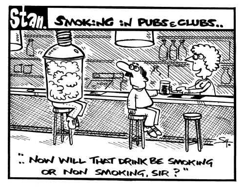 Smoking in pubs and clubs