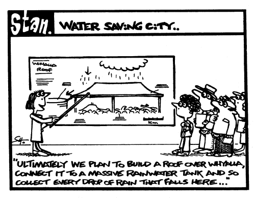 Water saving city