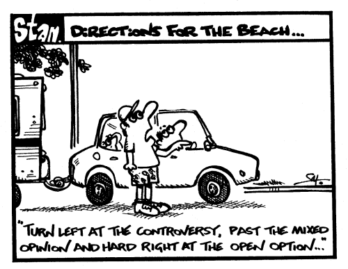Directions for the beach