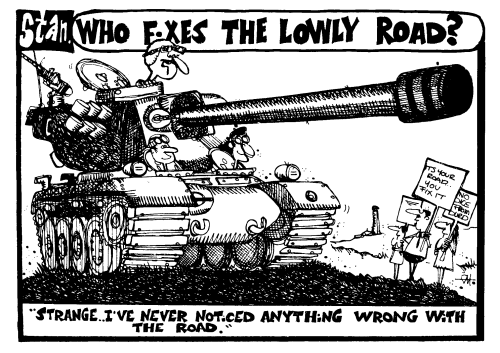 Who fixes the Lowly Road?