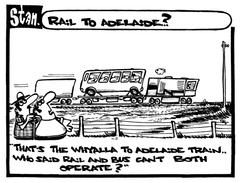 Rail to Adelaide?