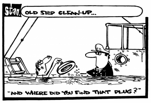 Old ship cleanup ..