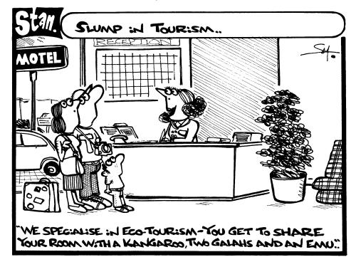 Slump in tourism