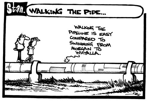 Walking the pipe
