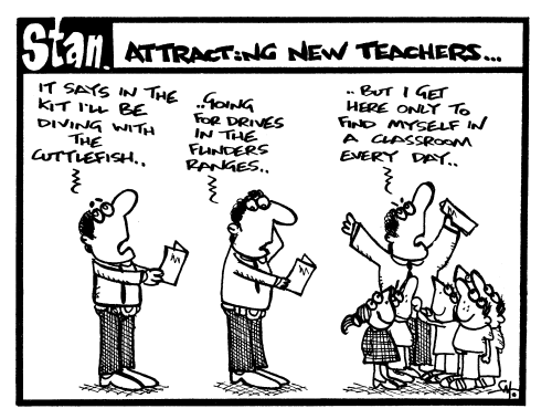 Attracting new teachers